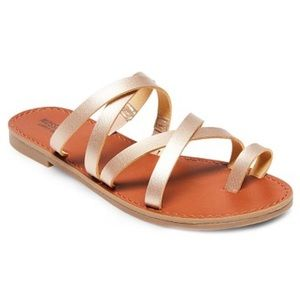 Mossimo rose gold sandals